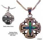 Jerusalem Cross with Opal Inset