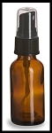 Amber Glass Bottles w/ Atomizer - 1 oz