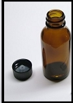 Amber Glass Bottle  w/Polyseal Cap - 1 oz