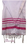 Prayer Shawls Fuchsia and Gold - 24x72