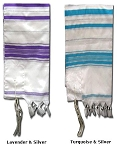 Prayer Shawls with Silver Trim - 24x72