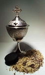 Pewter Incense Burner - gift set
