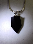 Anointing Oil Pendant - Black Crystal