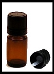 Amber Glass Bottle w/Eurocap - 5ml