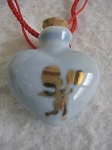 Ceramic Heart Pendant - Blue