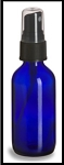 Cobalt Blue Glass Bottle w/atomizer cap - 4 oz