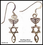 Sterling Silver Messianic Earrings
