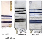 Prayer Shawl - Tallit - Large - 47x68 & 47x64