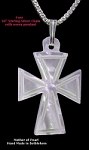 Mother of Pearl Necklace - Triangle Crosses