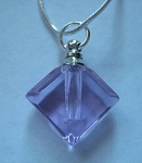 Anointing Oil Pendant - Pink - Diamond shape