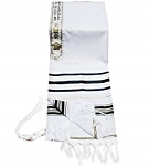Prayer Shawl - Black And Gold 68x47