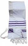 Prayer Shawl - Tallit - Purple And Gold 24x72