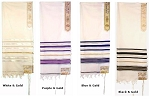 Prayer Shawl - Silver or Gold Trim 24x72