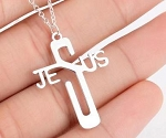 Jesus Name Cross Pendant