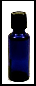 Cobalt Blue Glass Bottle w/Eurocap - 5 ml