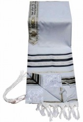 Prayer Shawl - Tallit - Black & Gold 24x72